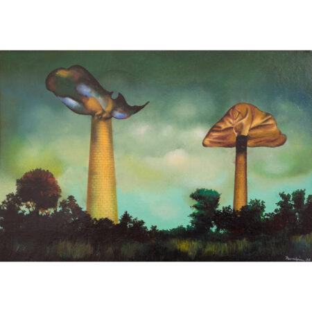 Jules Perahim - Peisaj organic cu furnale